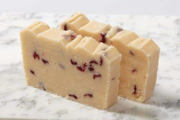 Fudge - Slices – Front Label - cranberry-raspberry